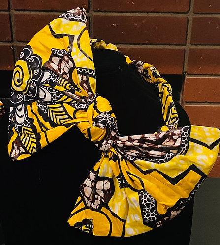 Africa Print Headband, Hoop Earring, Kente Print Cuff Bracelet