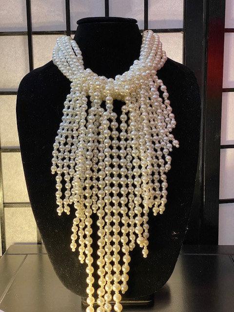 Twisted Pearl Necklace, Bracelet & Earrings