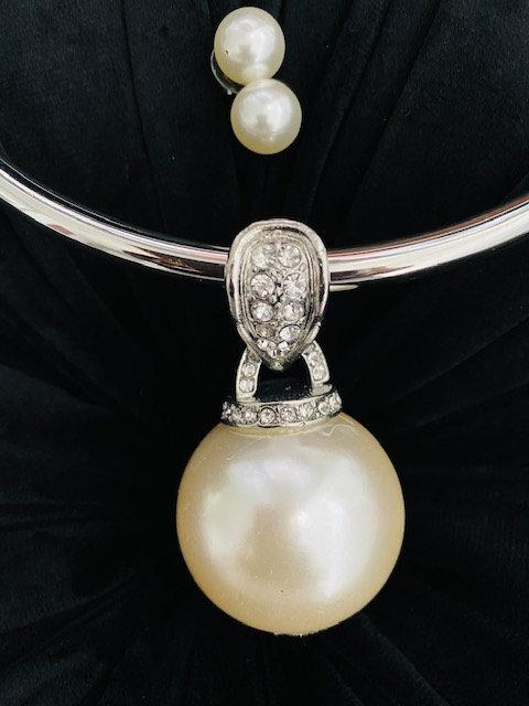 Bold Pearl Necklace w/Earrings