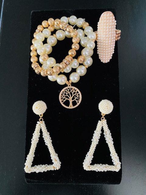 Tree of Life Bracelet, Earrings, Ring