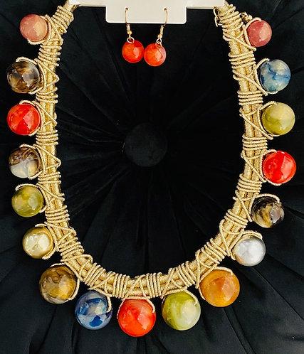 Marble Dreams Necklace w/Earrings