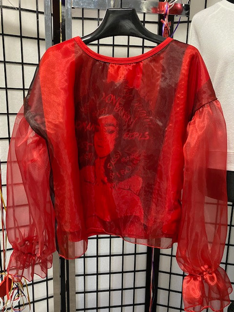 Sasha Red Organza Top