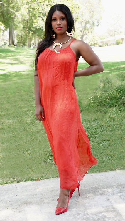 Summertime Silk Sundress