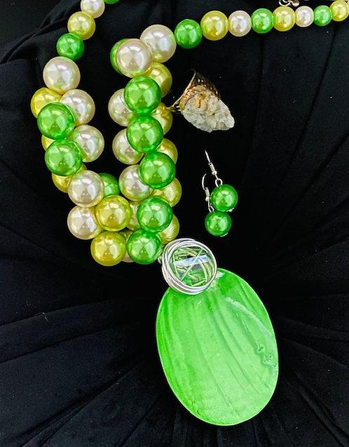 Springtime Pearl w/Earrings & Ring
