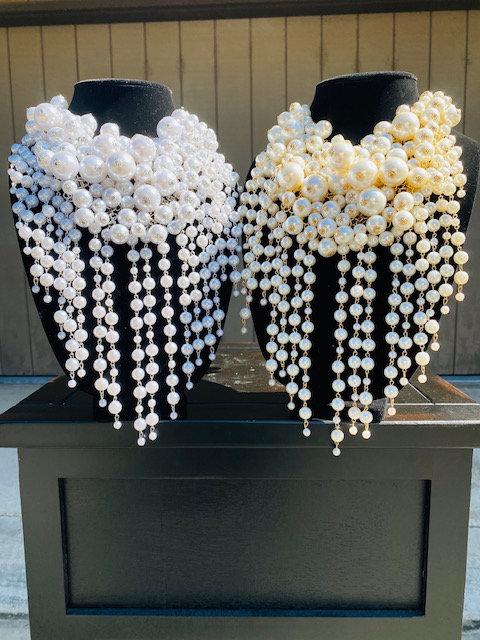 Poppin' Pearl Necklace w/Earrings & Bracelet