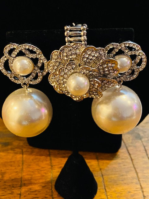 BOSS Delta Pearl Earrings, BOSS Bracelet & Eye Catching Ring