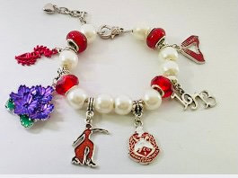 Essence of a Delta Woman Charm Bracelet