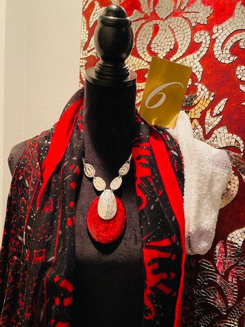 REVEALED - MYSTERY BOX #6 Claret Necklace, Earrings, Cozy Socks