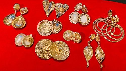 Clip-on Earrings - Gold