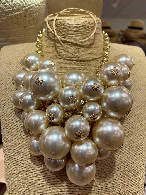 Popcorn Pearl Necklace & Earrings