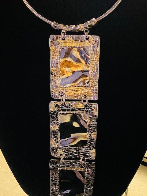 Tie Necklace & Earrings
