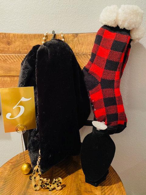 REVEALED - MYSTERY BOX #5 Velour Infinity Scarf, Warm Socks, Black Headwrap