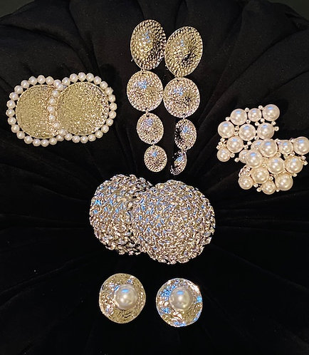 Clip-on Earrings - Silver