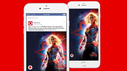 Captain Marvel x Vodafone