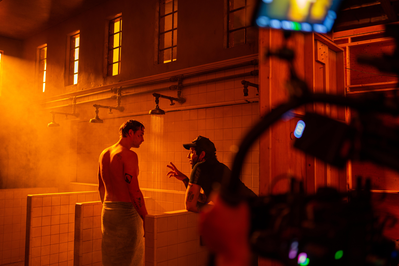 """Sam Gonzalez directing James Preston during """"That Night"""""""