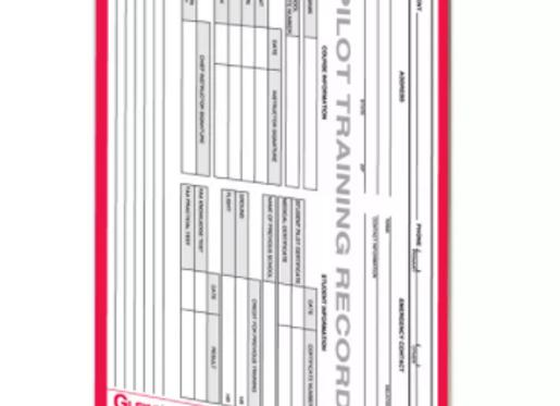 Instrument Pilot Training Record