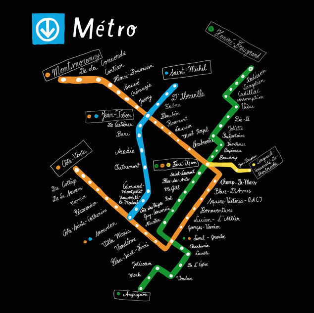 Metro Montreal Map