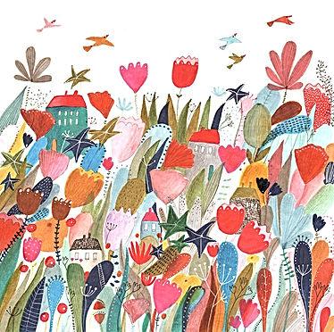 summer illustration childrens book illustration flowers botanical drawing illustratie tekening