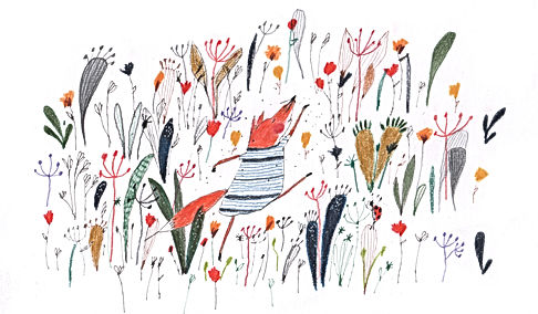 dance fox feedom childrens illustration childrens bok kidlit prentenboek vos illustration illustrati tekening geboortekaart birth announcement card botanical botanisch prentenboek