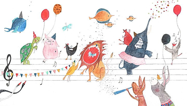 carnaval der dieren carnaval des animaux concert concertgebouw illustration illustratie illustrator picture book childrens book kinderboek prentenboek kidlit concertgebouw orchestra theatre