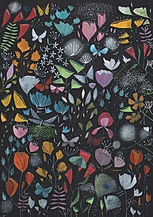 botanical bloom flowes plants garden gardening fairy tale magic botanisch illustratie