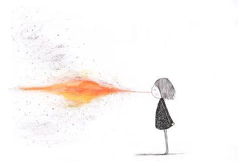 fire spark joy imagination ink vuurspuwen illustration illustratie kidlit childrens book illustration prentenboek kinderboek illustrator