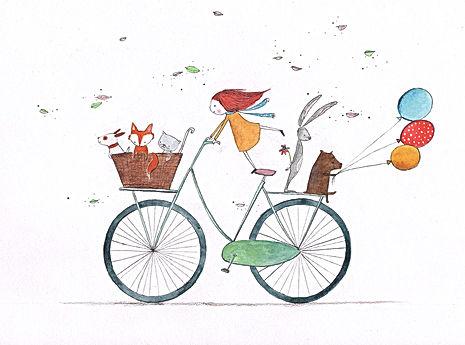 kidlit childrens bocelebration party post card kaart bekking en blitz illustratie illustration illustrator prentenboek kinderboek childrens book picture book fox dog cat kat vos vosje illustration