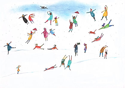 winter the four seasons vivaldi firy tale theatre orchestr concert concertgebouw amsterdam childrens book illustration drawing magic de vier jaargetijden vivaldi klassieke muziek classical music