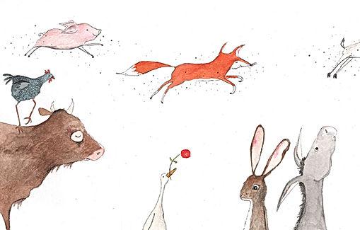 concertgebouw schilderijen vn een tentoonstelling Mussorgsy animals illustration childrens book illustration illustrator