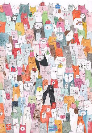 cats katten verjaardag birthday card post card kaart bekking en blitz picture book childrens book prentenboek kinderboek