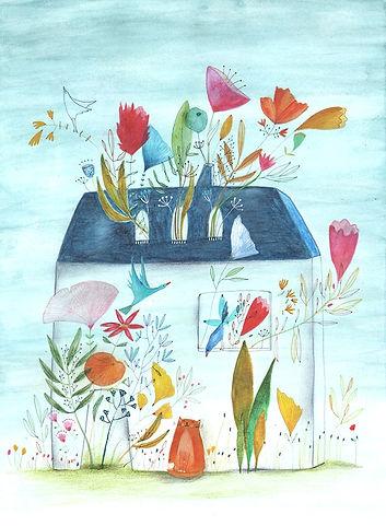 illustration drawing illustrator botanical flowers plants childrens book illustratie tekening prentenboek