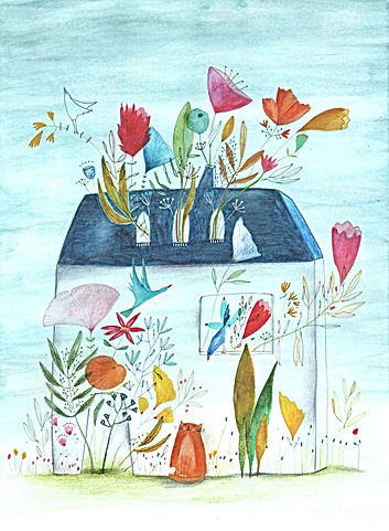 illustration drawing illustrator botanical flowers plants childrens book illustratie tekening prentenboek