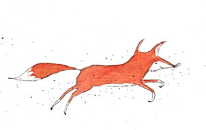 happy fox fox wildlife sprookje fairy tale childrens book picture book prentenboek kinderboek illustrator illustration kidlit illustratie birth announcement card geboortekaart