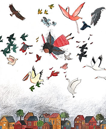 kinderboek childrens book picture book illustratie illustrator illustration birds diversity amsterdam-noord kidlit picture book prentenboek kinderboek magic fairy tale sprookje