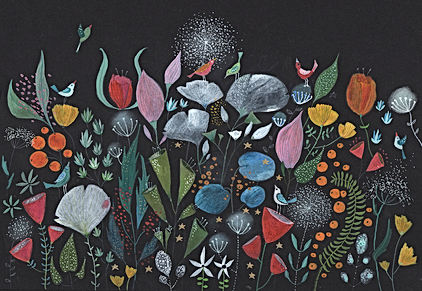 winter bloom gardening botanical flowers plants magic fairy tale childrens book childrens illustration illustrati tekening