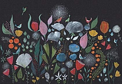 winter bloom gardening botanical flowers plants magic fairy tale childrens book childrens illustration illustrati tekening