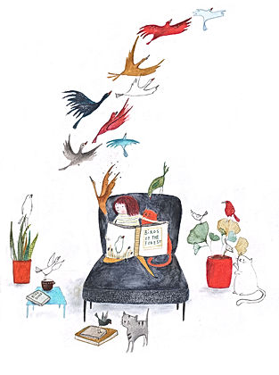 bekking en blitz post card kaart birds vogels books boeken illustration illustratie illustrator childrens book picture book prentenboek kinderboek lezen reading kidlit magic fairy tale