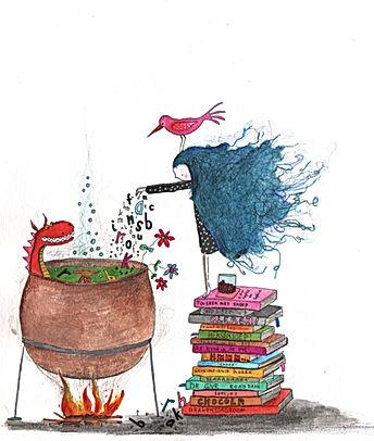 affiche Spinzi sprookje fairy tal magic magie witch illustration illustrator illustratie kinderboek prentenboek childrens book picture book
