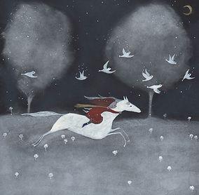 winter magic magie sprookje fairy tale childrens book illustration prentenboek illustratie kinderboek christmas picture book wild and free horse winter magic fairy tale kidlit