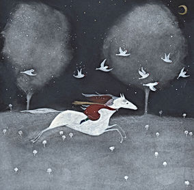 winter magic magie sprookje fairy tale childrens book illustration prentenboek illustratie kinderboek christmas picture book wild and free horse winter magic fairy tale kidlit