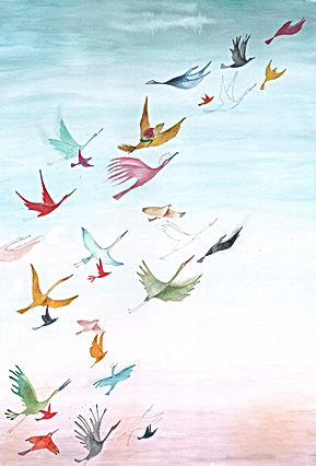 birds vogels nature freedom post card bekking en blitz stationary childrens book picture book kidlit prentenboek kinderboek illustratie illustrator