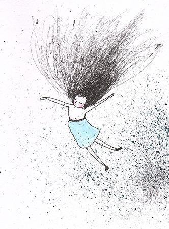 ink illustration drawing tekening illustratie illustrator dutch illustrator floating