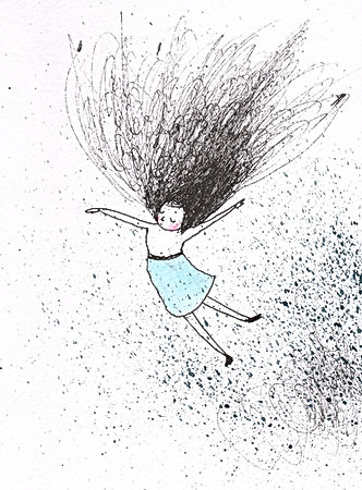 ink illustration drawing tekening illustratie illustrator dutch illustrator floating
