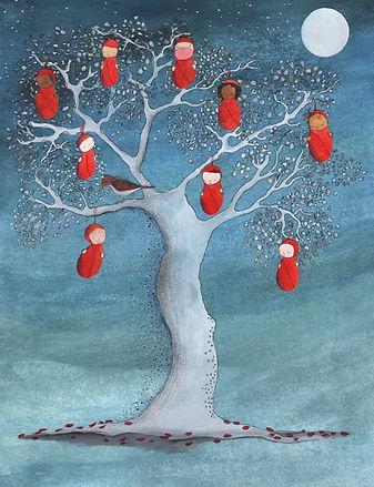 illustration illustratie illustrator kinderboek amsterdam-noord birth baby birth announcement geboorte geboortekaart kidlit picture book childrens book illustration fairy tale sprookje prentenboek