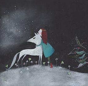 kidlit picture book prentenboek kinderboek kerst christmas magic winter wolf fairy tale picture book childrens book prentenboek illustration illustratie sprookje olf magic