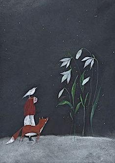 kerst christmas picture book childrens book prentenboek illustratie illustration fairy tale magic winter snow fox sprookje kidlit kinderboek