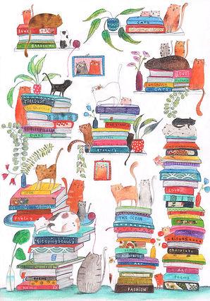 kidlit winter books boeken cats katten post card bekking en blitz childrens book illustration picture book prentenboek kinderboek
