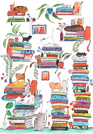 kidlit winter books boeken cats katten post card bekking en blitz childrens book illustration picture book prentenboek kinderboek