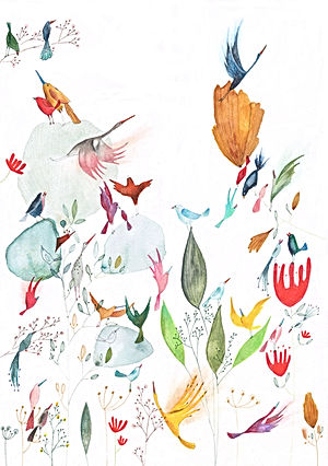 birds vogels postkaart bekking en blitz stationary prentenboek kinderboek childrens book picture book illustration illustratie illustrator postcard nature botanical birds