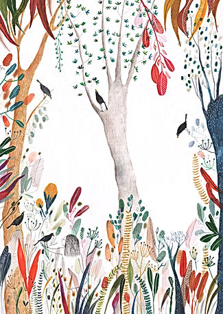 kidlit magic spirit bird fairy tale sprookje illustration illustrator illustratie magie picture book prentenboek childrens book kinderboek forest botanical